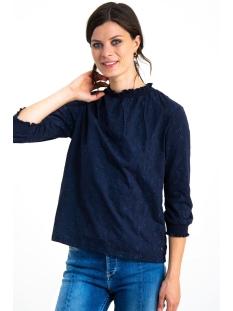 blouse met kraagje h90207 garcia blouse 292 dark moon