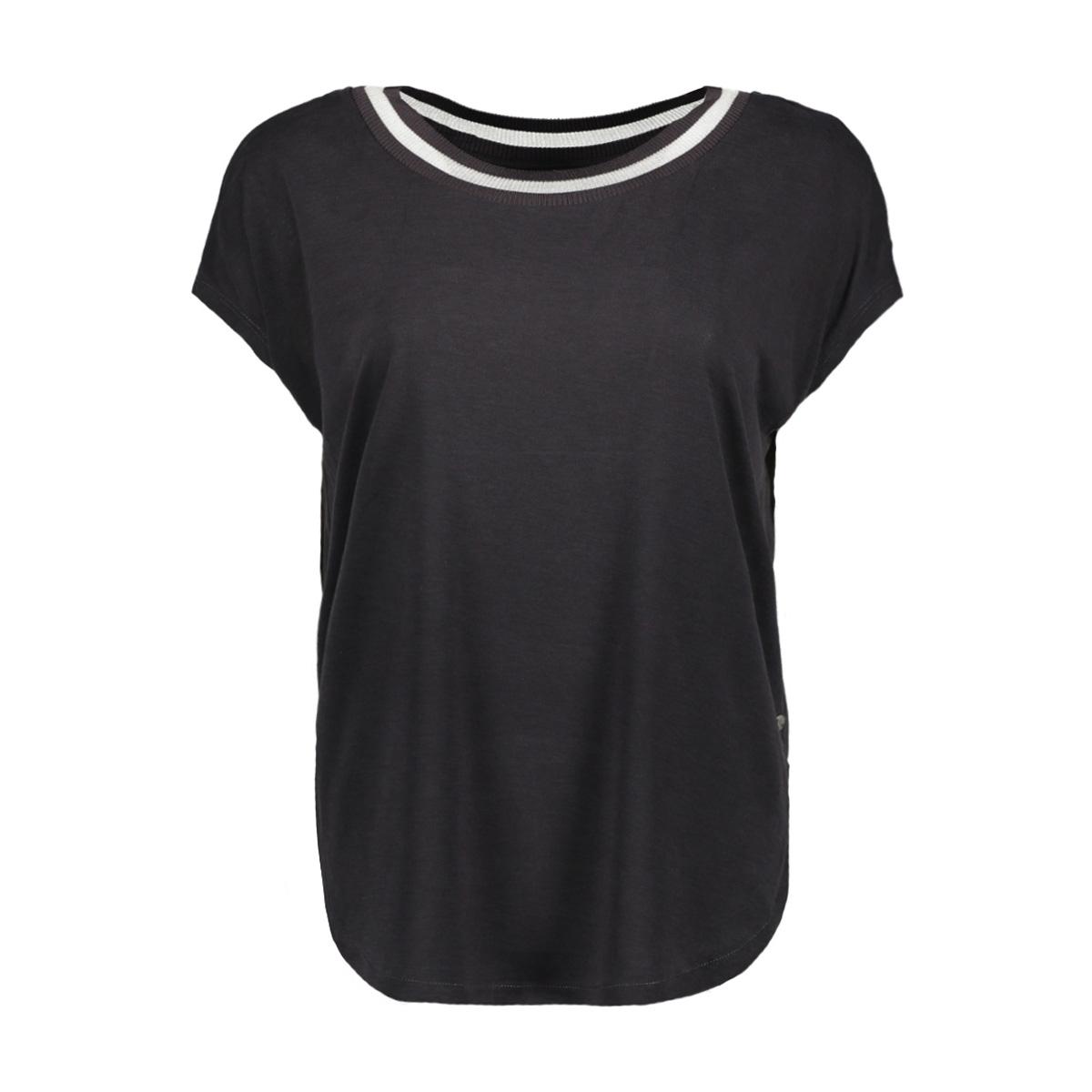 t shirt met gestreepte bies 21101736 sandwich t-shirt 80028