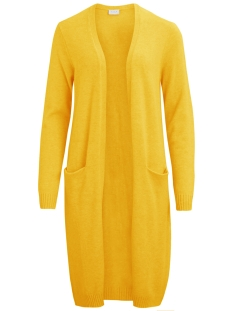 viril l/s long knit cardigan-fav 14043282 vila vest golden rod/melange