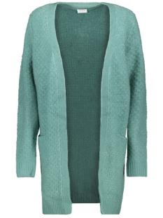 viinfi knit cardigan - fav 14053365 vila vest oil blue/melange