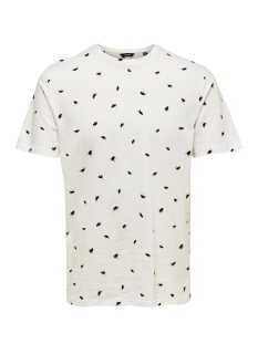 Only & Sons T-shirt onsBUSTER SS AOP TEE 22013468 Cloud Dancer
