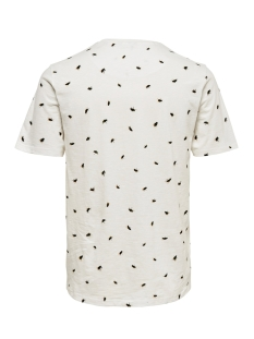 onsbuster ss aop tee 22013468 only & sons t-shirt cloud dancer