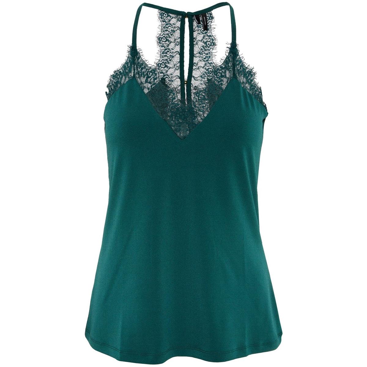 vmmilla s/l lace top color 10209420 vero moda top ponderosa pine