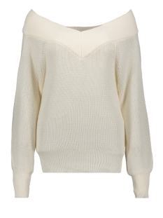 objlandaz l/s knit pullover 105 23031384 object trui gardenia