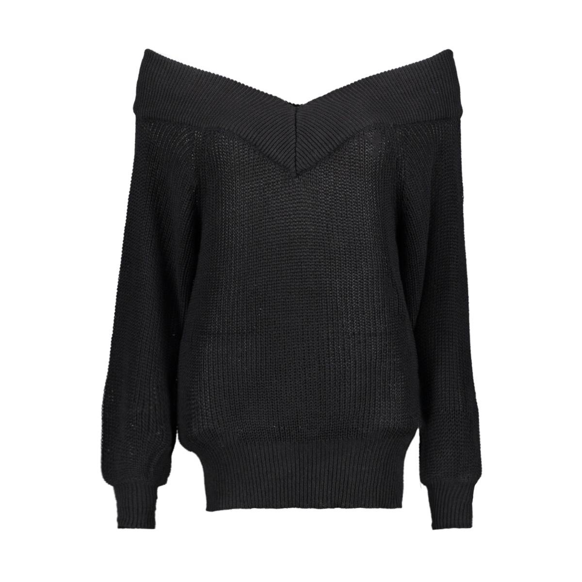 objlandaz l/s knit pullover 105 23031384 object trui black