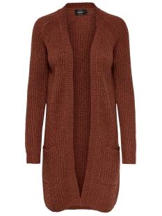 Only Vest ONLBERNICE L/S CARDIGAN KNT NOOS 15165076 Rustic Brown/BLACK MELANGE