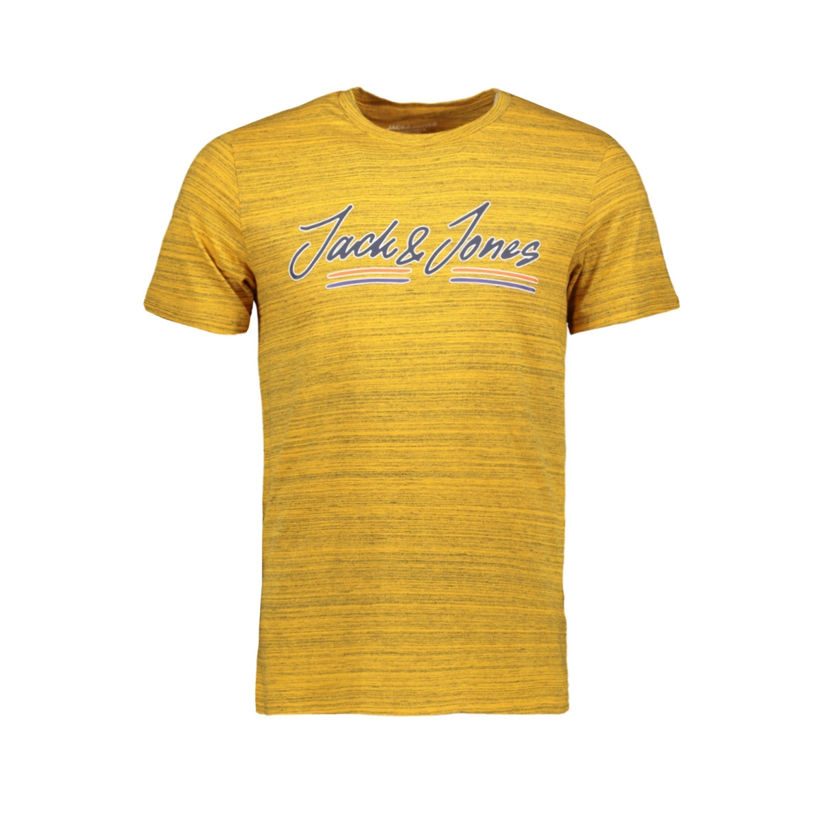 jorfranco tee ss crew neck 12158076 jack & jones t-shirt sunflower/slim