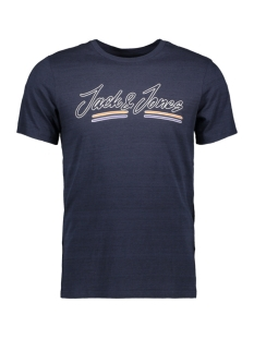 Jack & Jones T-shirt JORFRANCO TEE SS CREW NECK 12158076 Navy Blazer/SLIM
