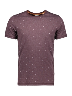 jcohex tee ss crew neck 12159080 jack & jones t-shirt fudge/mel. slim