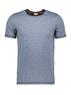 Jack & Jones T-shirt JCOHEX TEE SS CREW NECK 12159080 China Blue/MEL. SLIM