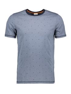 jcohex tee ss crew neck 12159080 jack & jones t-shirt china blue/mel. slim