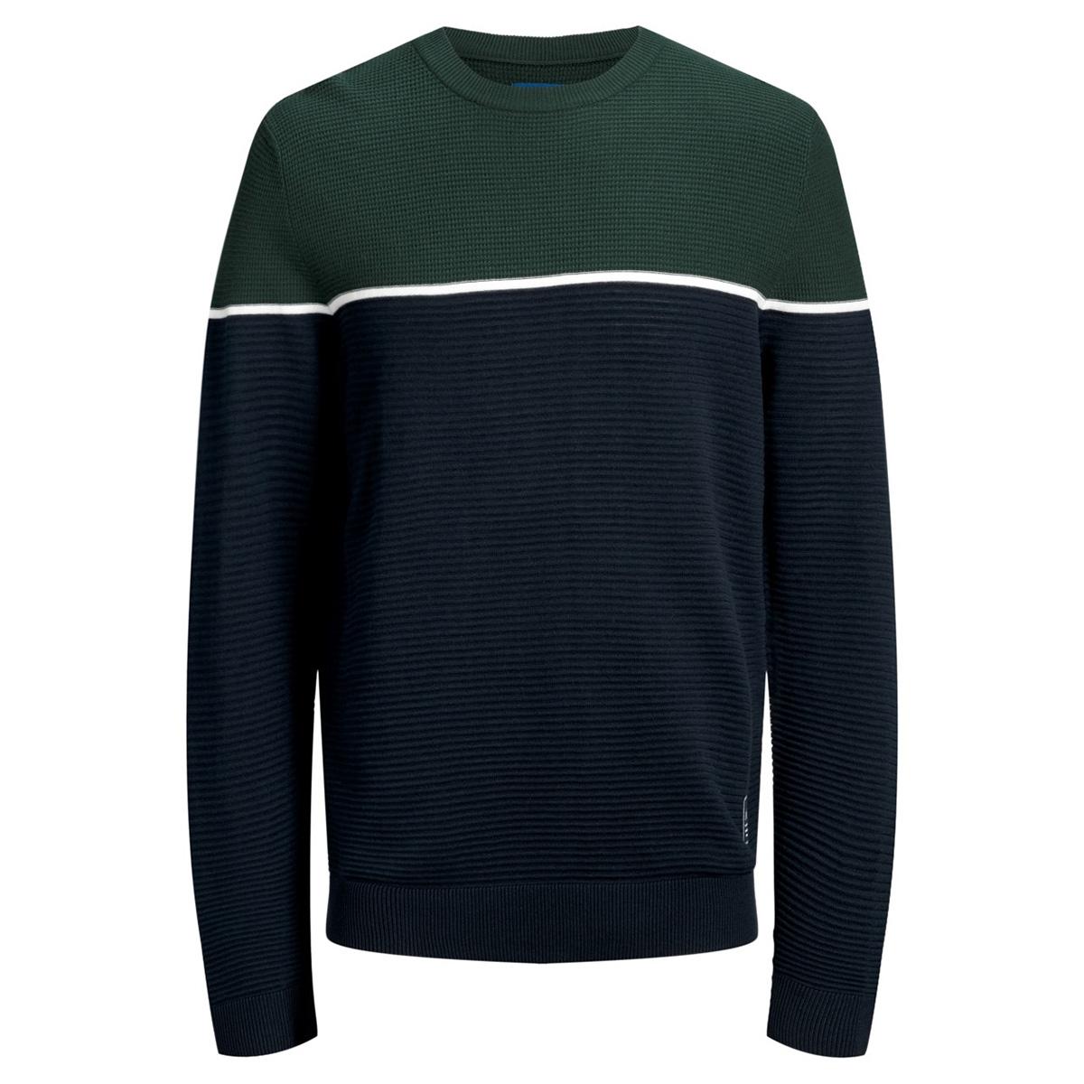 jorbrit knit crew neck 12159079 jack & jones trui sea moss/knit fit