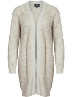 objnova stella l/s knit cardigan noos 23030187 object vest humus/melange