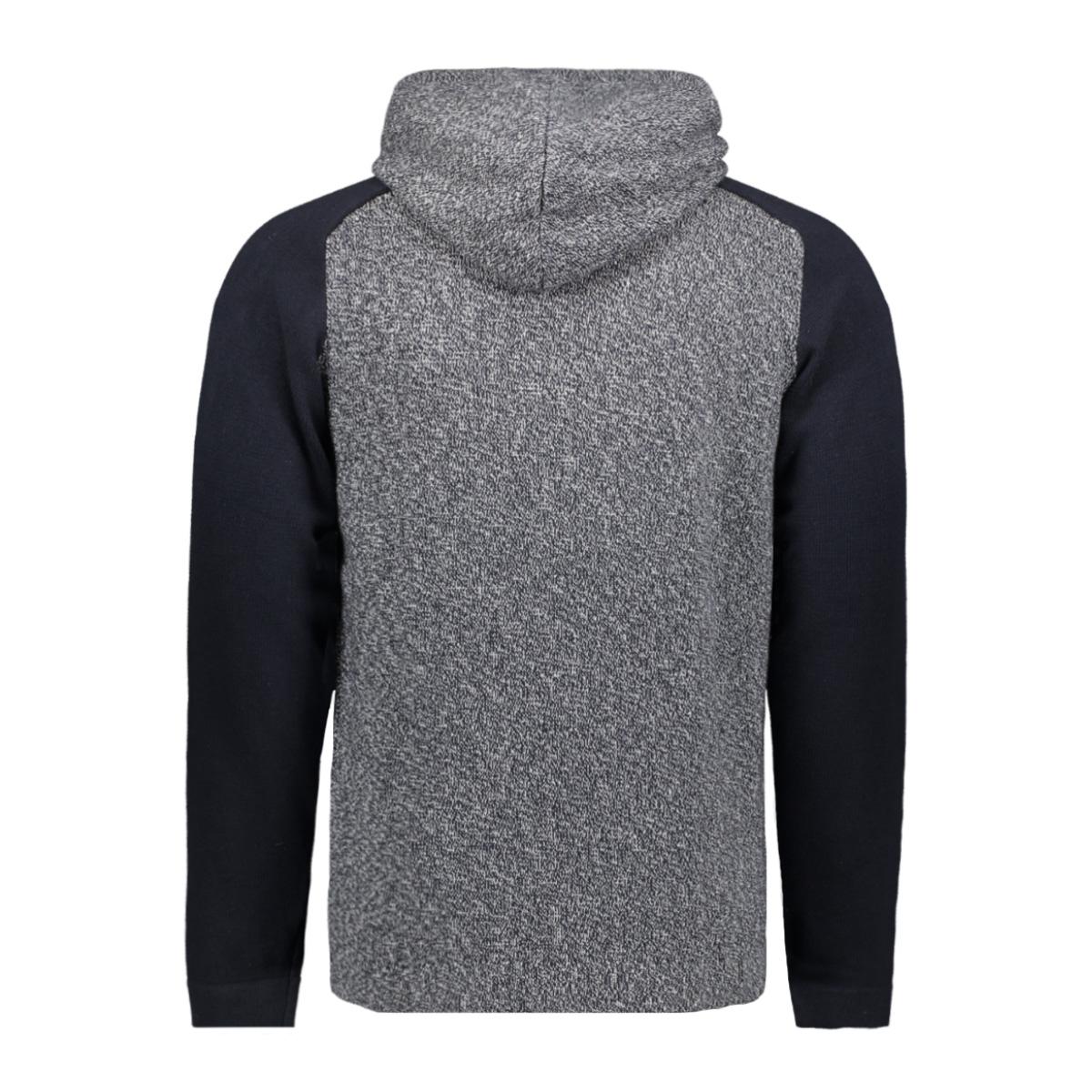 jcomix knit hood cardigan 12157836 jack & jones vest sky captain/melange body