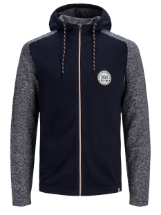 Jack & Jones Vest JCOMIX KNIT HOOD CARDIGAN 12157836 Sky Captain/SOLID BODY
