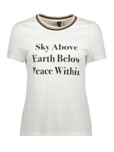 Vero Moda T-shirt VMFAYE FRANCIS SS TOP BOX GA JRS 10221780 Snow White/SKY ABOVE