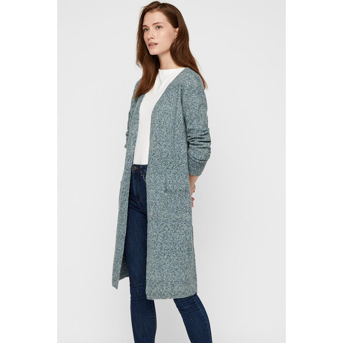 vmdoffy ls long open cardigan color 10219176 vero moda vest ponderosa pine/melange