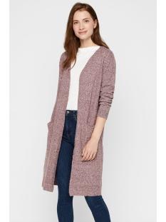 vmdoffy ls long open cardigan color 10219176 vero moda vest port royale/melange