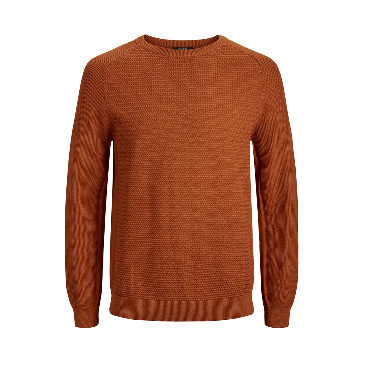 jprpost knit crew neck sts 12141495 jack & jones trui umber
