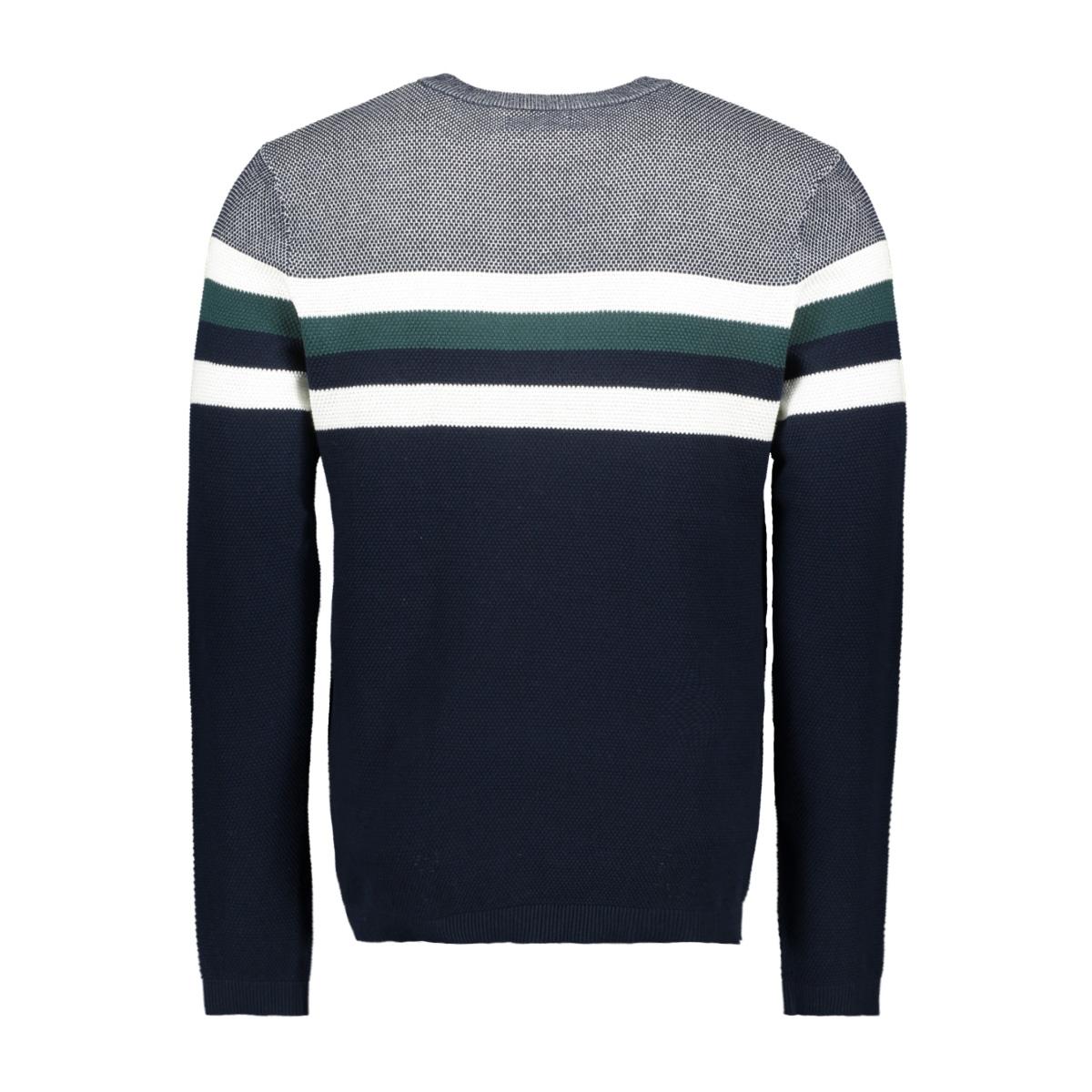 jorlarry knit crew neck 12155586 jack & jones trui sea moss/knit fit