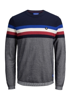 jorlarry knit crew neck 12155586 jack & jones trui surf the web/knit fit