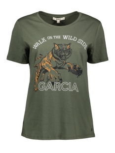 Garcia T-shirt GROEN T SHIRT MET OPDRUK I90003 1690 BEETLE