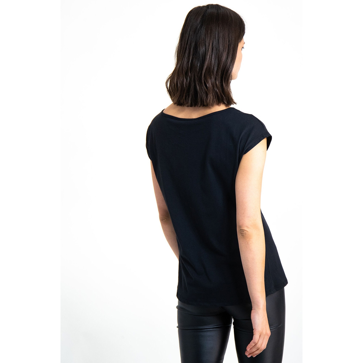 t shirt met opdruk i90004 garcia t-shirt 60 black