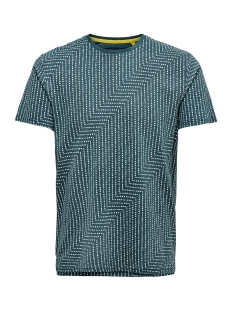 Only & Sons T-shirt ONSNEXT AOP SLIM TEE 3712 22013712 Reflecting Pond