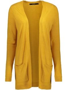 vmbobbie ls new open cardigan color 10219173 vero moda vest amber gold