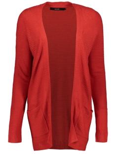 Vero Moda Vest VMBOBBIE LS NEW OPEN CARDIGAN COLOR 10219173 Chinese Red