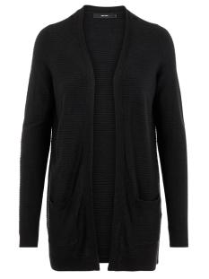 vmbobbie ls new open cardigan noos 10215967 vero moda vest black