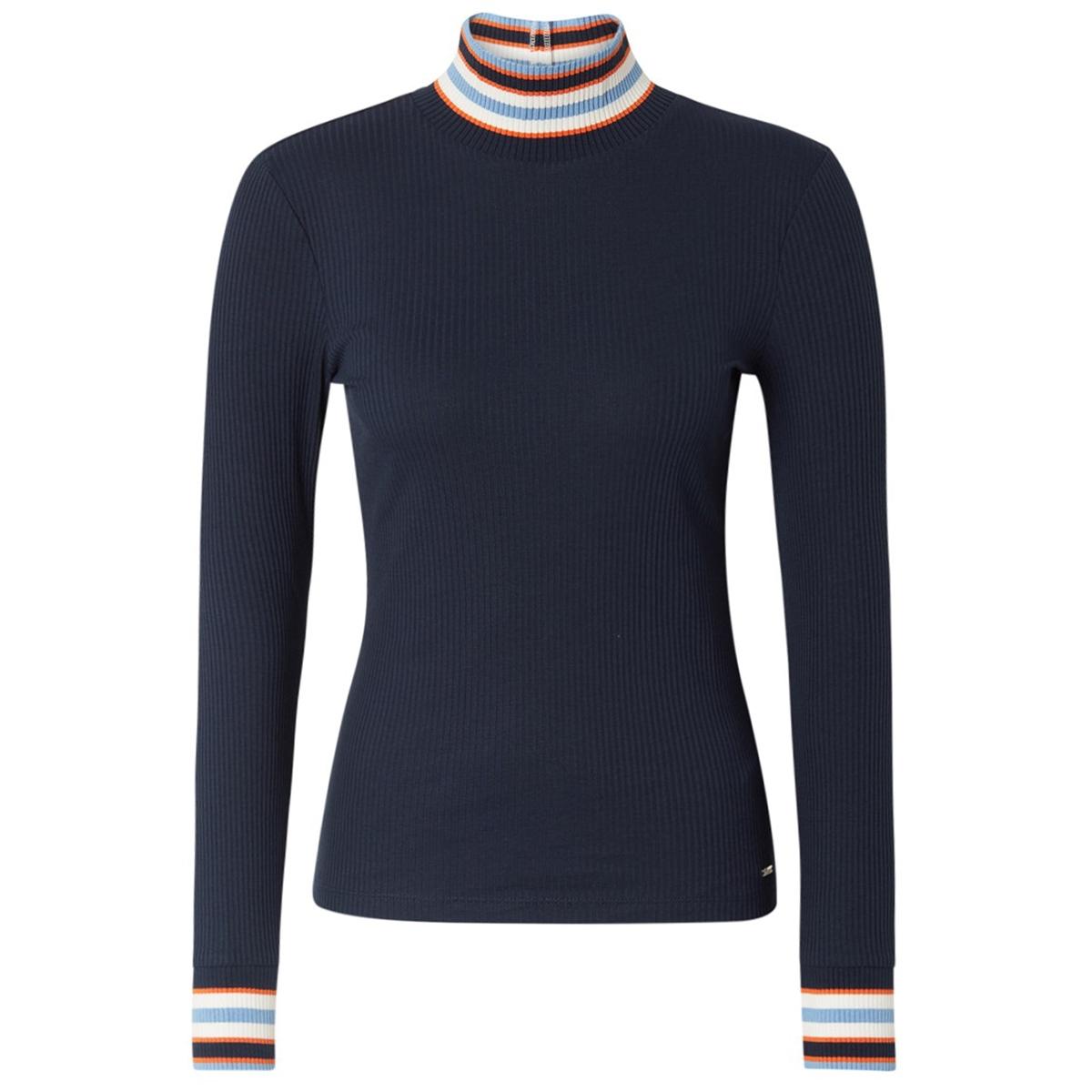 shirt met geribde details 1014257 tom tailor t-shirt 10360