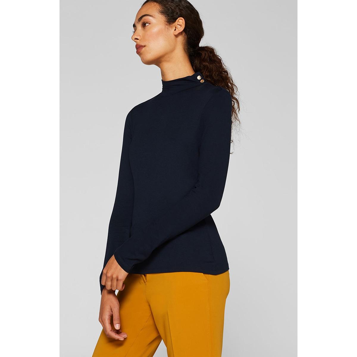 stretch shirt met opstaande kraag 099eo1k012 esprit collection t-shirt e400