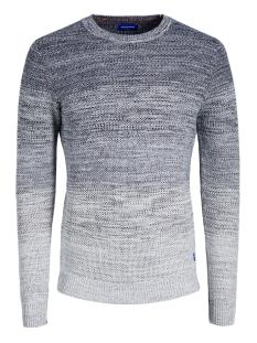 jorfame knit crew neck 12159056 jack & jones trui navy blazer/knit fit
