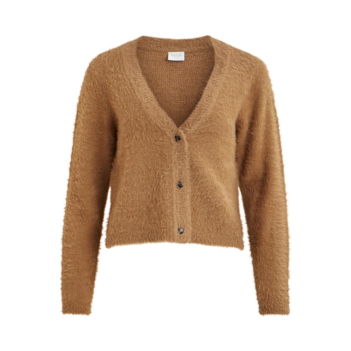 vialinja knit l/s cardigan/des 14053562 vila vest tigers eye