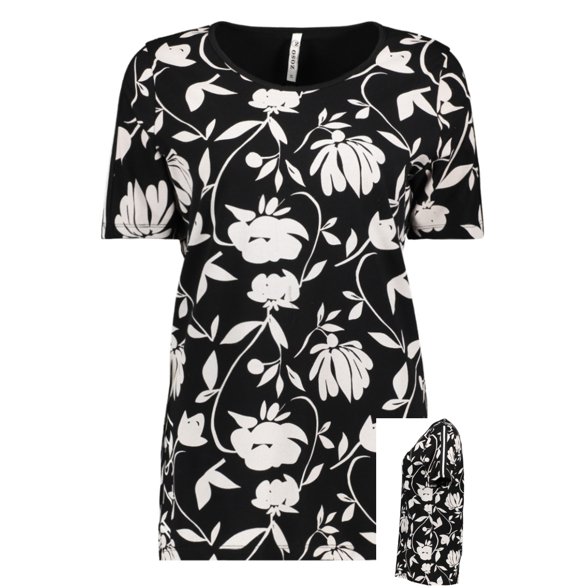 tilly t shirt with print 194 zoso t-shirt black/offwhite