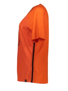 mixed fabric t-shirt evelien 194 zoso t-shirt orange/black