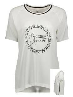 Zoso T-shirt MIXED FABRIC T-SHIRT EVELIEN 194 OFFWHITE/BLACK