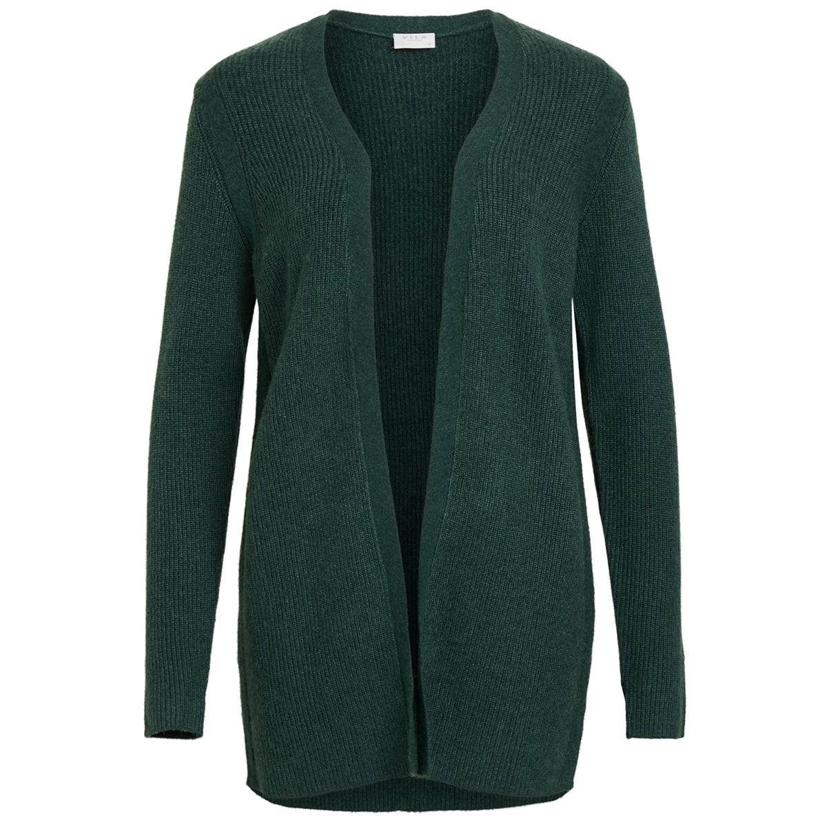 viril l/s  open knit rib cardigan 14051977 vila vest pine grove/melange