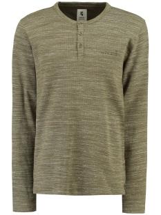 Garcia T-shirt GROEN TSHIRT MET LANGE MOUWEN GS910706 2088