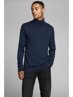 jjeemil knit roll neck noos 12157417 jack & jones trui navy blazer
