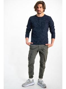 donkerblauw tshirt met lange mouwen gs910706 garcia t-shirt 292