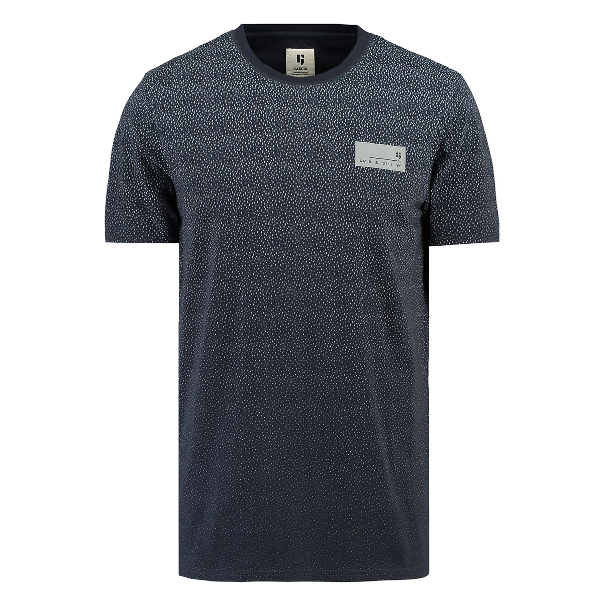 t shirt met korte mouwen i91004 garcia t-shirt 292 dark moon