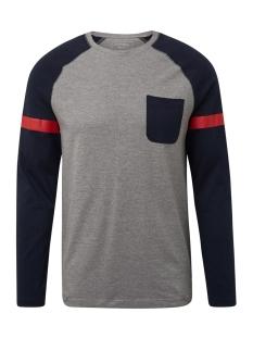 Tom Tailor T-shirt LANGE MOUWEN SHIRT MET STRUCTUURMIX 1013780XX12 10695