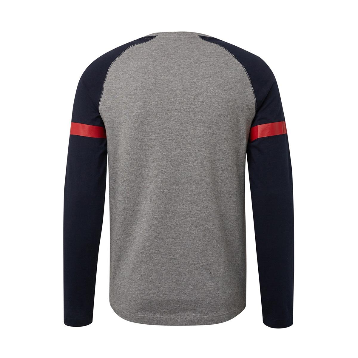 lange mouwen shirt met structuurmix 1013780xx12 tom tailor t-shirt 10695