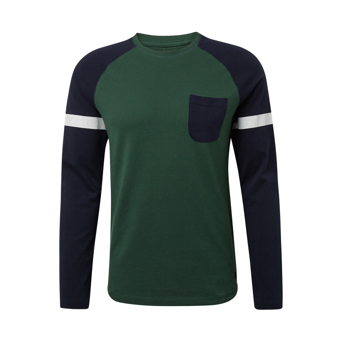 lange mouwen shirt met structuurmix 1013780xx12 tom tailor t-shirt 18601