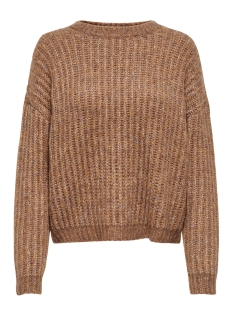 onlchunky l/s pullover knt 15187656 only trui camel/w. multi m