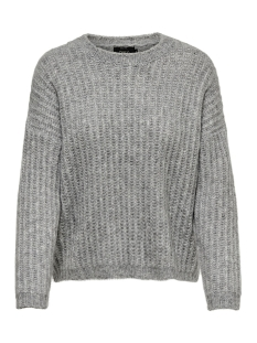 Only Trui ONLCHUNKY L/S PULLOVER KNT 15187656 Light Grey/W. MULTI M