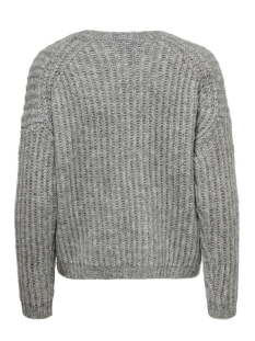 onlchunky l/s pullover knt 15187656 only trui light grey/w. multi m