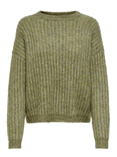 onlchunky l/s pullover knt 15187656 only trui desert sage/ w. multi m